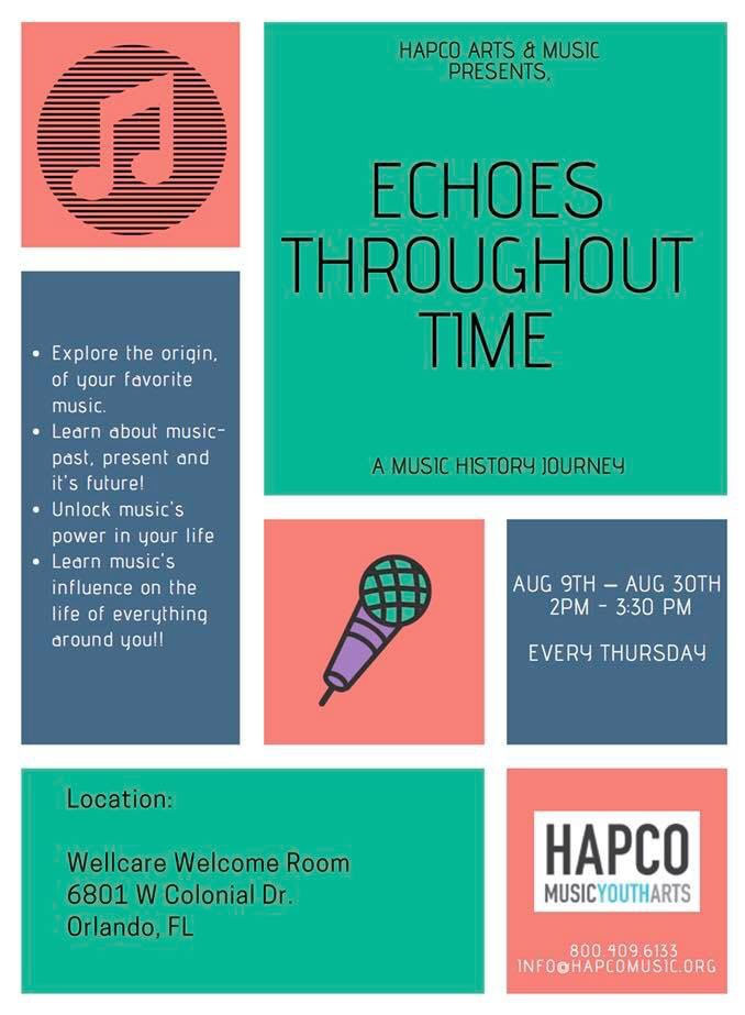 Echoes Throughout Time flyer