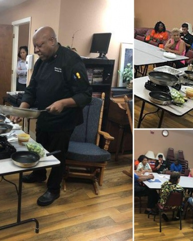 Healthy Nutrition Class for seniors at Citrus Gardens