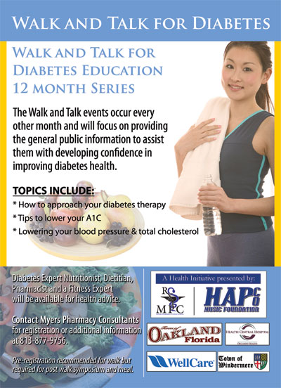 Walk and Talk for Diabetes flyer