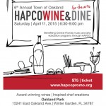 6th Annual Town of Oakland HAPCO Wine and Dine for the Arts